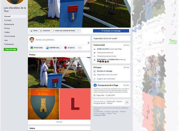 Compte facebook les chevaliers de la tour