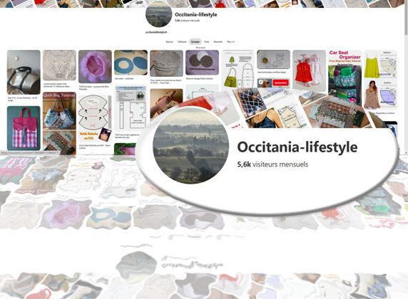 Compte pinterest d'Occitania lifestyle